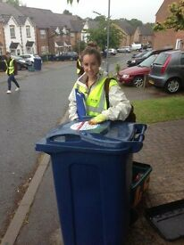 Recycling Promoters and Team Leaders: £8.50 - £11.00 p/hr