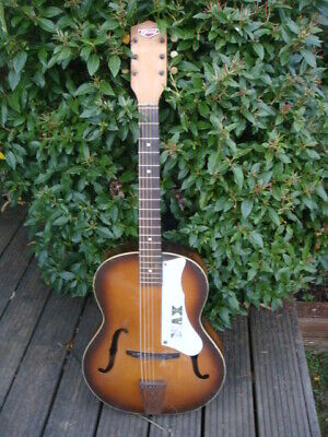 Egmond vintage archtop f hole classic blues mojo guitar new strings sounds great