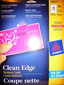 Grand & Toy 100 Glossy Papers, Clean Edge Business Cards, Avery