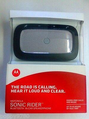 Motorola Sonic Rider TX550  Wireless Bluetooth Car Speakerphone SILVER-Retail