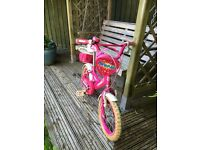 Girls sparkle Bumper bike