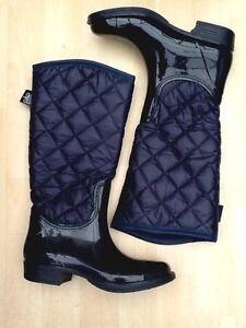 New Next women's Wellington styled boots, navy size 6 ,£30. Blue wellie, padded