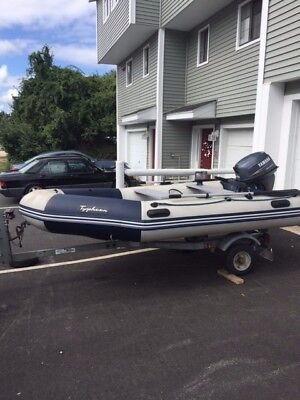 Inflatable runabout Zodiac with Yamaha motor 15HP 4-stroke and trailer