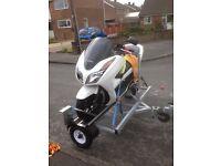 Motorbike trailer / scooter side loading single bike trailer