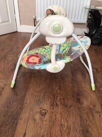 Baby battery powered swing chair