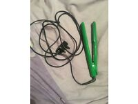 Green GHD hair straighteners