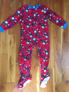 Four Boys 4T Winter Sleepers with Feet