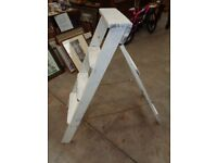 White Painted Step Ladders