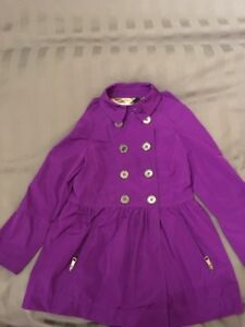 Girl's Burberry Purple Fall Jacket