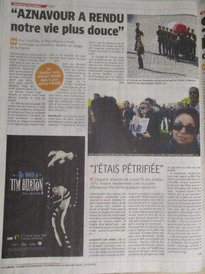 JOURNAL belge DU SOUVENIR DE L'ENTERREMENT: CHARLES AZNAVOUR - 06/10/18 + SPIROU