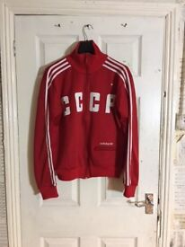 EXTREMELY RARE CCCP ADIDAS ORIGINALS JACKET IN RED AND WITH WITH SPETNAZ BADGE