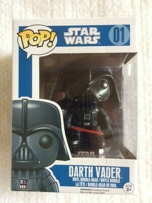 Darth Vader #01 Star Wars Original BLUE Box VAULTED Funko Pop NEW