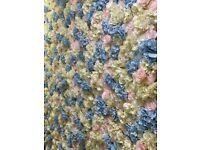 Luxurious 8ft X 8ft Ivory Flower Wall Backdrop Decorations Available For Hire