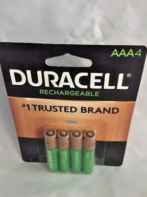 Duracell AAA Rechargeable Batteries DX2400 4 Pack  1.2V NiMH EXP 2028
