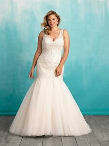 Allure W377 wedding dress Label size:22W, street size:20W