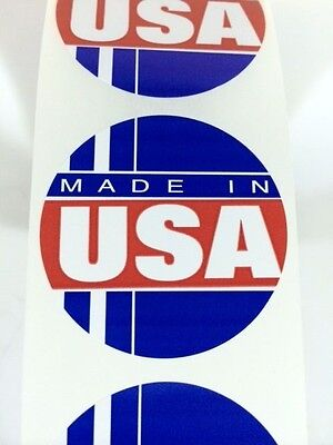 250 Made In The Usa Circle Label Stickers Made In The Usa Ebay Labels Fragile