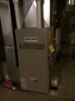 High efficiency furnace & hot water tank