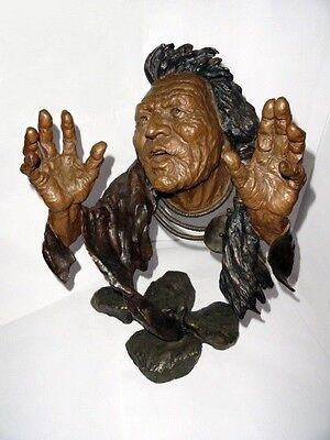 """Mark Hopkins Bronze Sculpture """" Legend Keeper"""""""