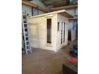 Timber Home Office - 8' x 8' - Finished to your Specification