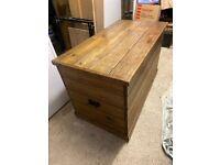 Large Antique Pine Storage box