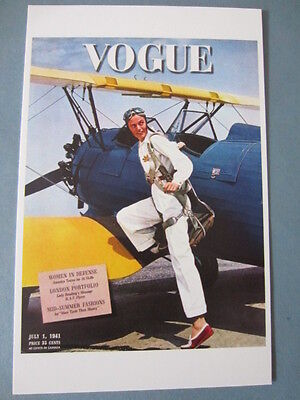 MINT POSTCARD VOGUE COVER TONI FRISSELL JULY 1 1941