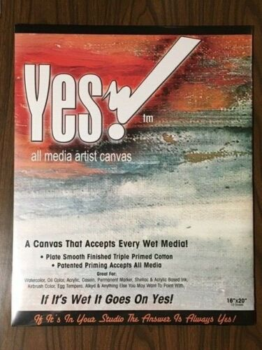 Yes! Canvas Pads 16 x 20  10 sheets