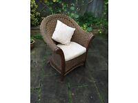 Rattan Chair and Cushions. £19.99 O.N.O