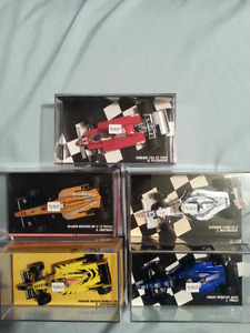 FORMULA 1 & INDY DIECAST metal RACE CARS 1/18 & 1/43 & 1/24