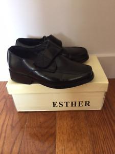 Formal black shoes toddler size 10