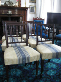 A SET OF SIX ART DECO PERIOD ANTIQUE DINING CHAIRS