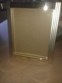 Dunfermline Football Club engraved silver plated photo frame.