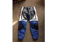 Unused Leather motorcycle trousers 40 waist 30 inch inside leg