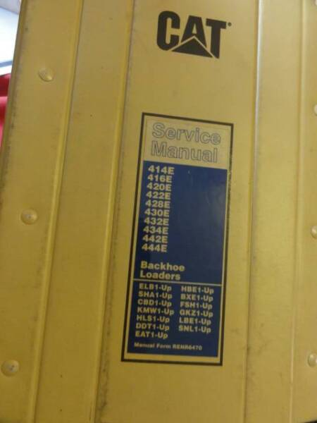 backhoe loader cat 428e parts manual