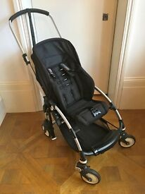 Bugaboo Bee Pushchair in black with footmuff & cocoon - great condition