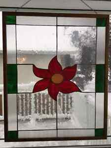 """Georgous Framed Stained Glass by Timeless Treasures 29"""" x 35"""""""