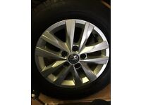 VW Transporter T6 Alloy wheels and tyres