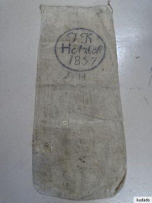 Nr.I1352 Leinen Sack / Getreidesack ~ J. K. Holzloh ~ von 1857 ~ RAR!!!!