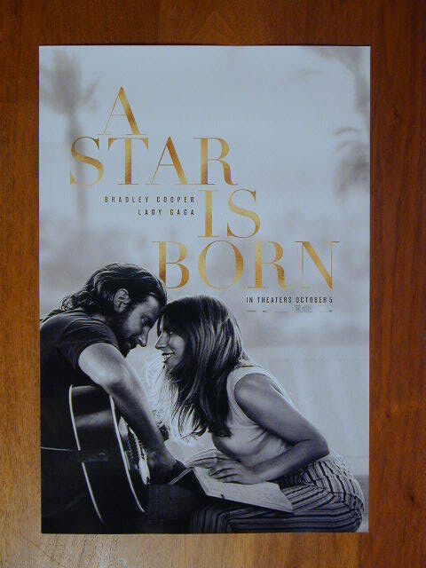 Купить A STAR IS BORN 2018 MOVIE POSTER LADY GAGA BRADLEY COOPER 11 X 17 NEW ROLLED