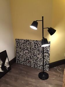 3 Light Black Floor Lamp