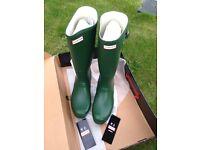Hunter Wellies Wellington Boots Size 11 Mens Green
