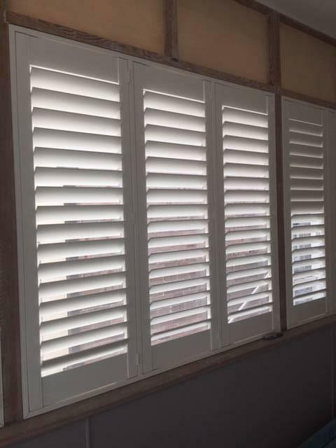 White Interior Plantation Shutters | Curtains & Blinds ...