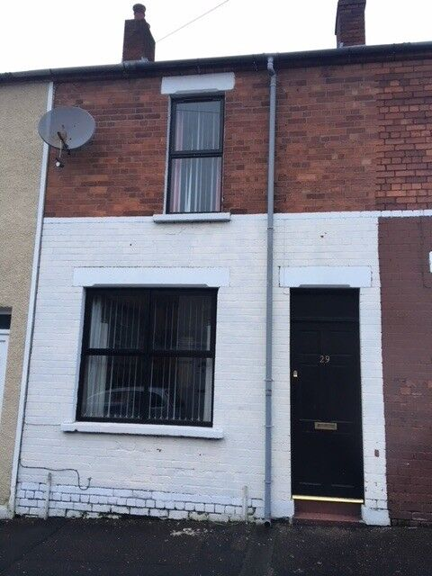 HOUSE FOR RENT - Colinview Street, Falls Road, Belfast. 2 bed, Gas, Upstairs Bathroom, New Windows.
