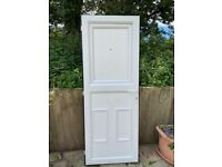 preowned -uPVC white stable door