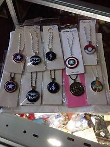 assorted necklaces, superman, spiderman, batman, capt america etc Youngtown Launceston Area Preview