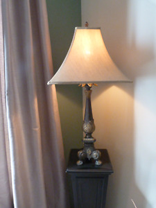 Gorgeous HEAVY Lamp and Shade