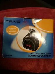 CRAIG Projection Rotating Lens AM/FM Digital Alarm Clock Radio Model CR41025