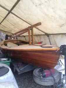 Beautiful Cedar Strip Composite Sailboat