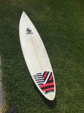 "6""5' Pin Tail Surfboard Coolangatta Gold Coast South Preview"