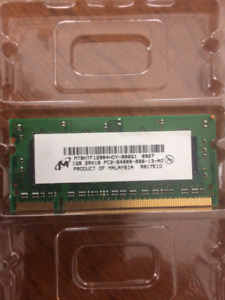 Various Laptop Memory 2 x 1GB and 2 x 2GB.