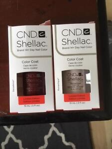 CND Shellac Nail Color - Decadence and Romantique - Gel polish
